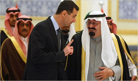 Крал Абдула и Башар Асад в Рияд.