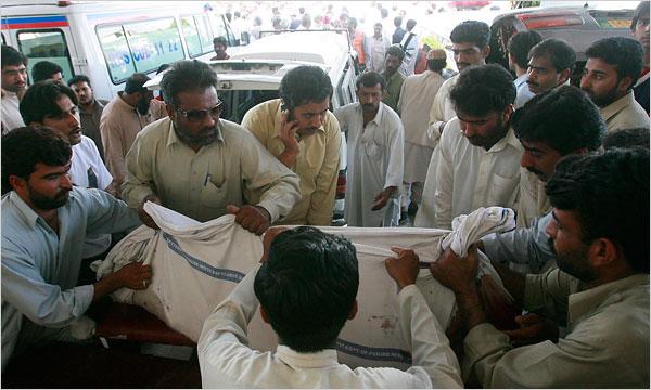 NY Times/AP Image: Victim of Chakwal Bombing