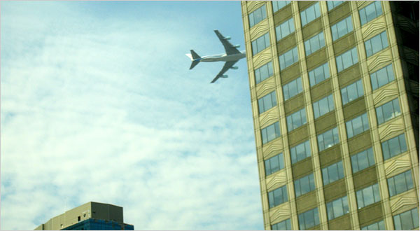 Jim Brown's photo of Air Force Jet flying low-level maneuvers over New York