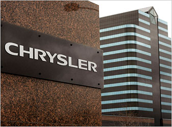The Chrysler world headquarters on Tuesday in Auburn Hills, Mich.