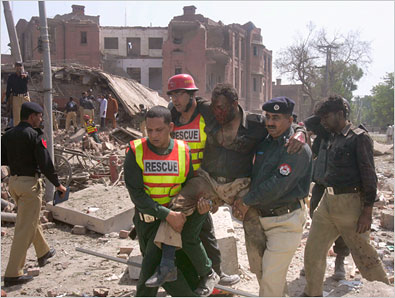 Image Credit: AP, Rescue Workers at the Scene