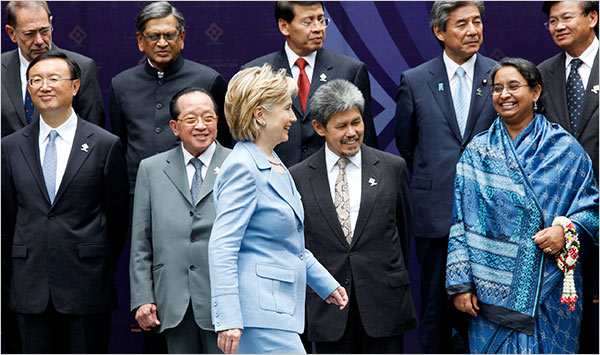 Homegirl HRC at ASEAN Conference, July, 2009