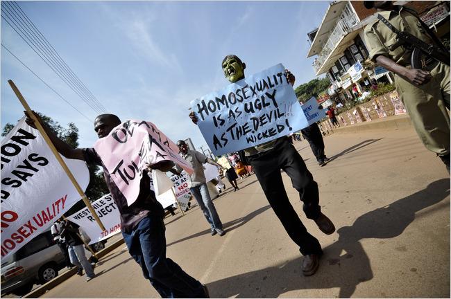 Protesters in Uganda