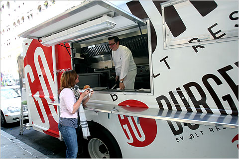 The Go Burger truck, run by the BLT restaurant group.