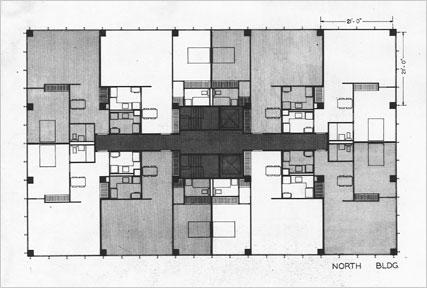 Floor Plan for Lake Shore Drive apartments