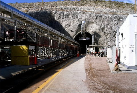 The entrance to Yucca Mountain in Nevada. A commission opens hearings this week aimed at identifying alternative sites or methods for disposing of nuclear waste.