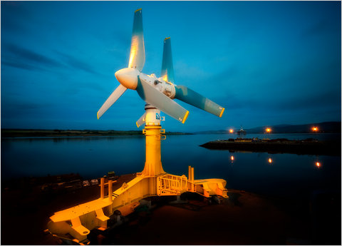 The AK1000 tidal turbine was designed to withstand the rigors of the North Atlantic.