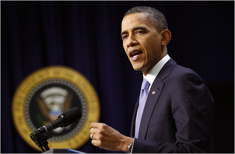 President Obama spoke during a news conference in Washington on Wednesday.