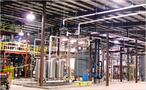 The Mascoma Corporation, which demonstrates cellulosic ethanol production at this site in Rome, N.Y., plans to break ground on a commercial biorefinery in Michigan.