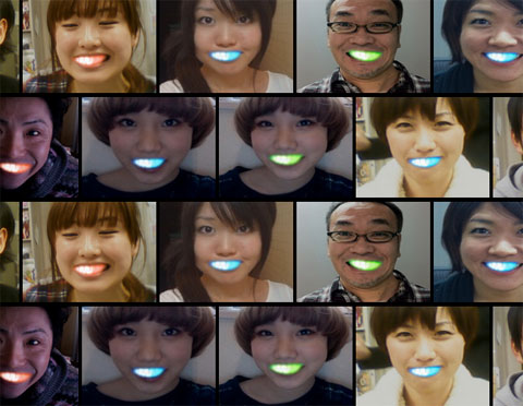 Japanese school girls with LED teeth