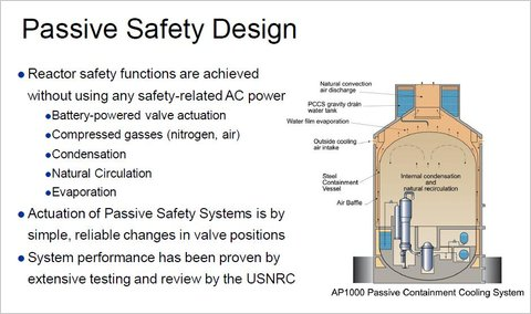 The design for the containment system of the AP1000 reactor, which has been faulted by some critics.
