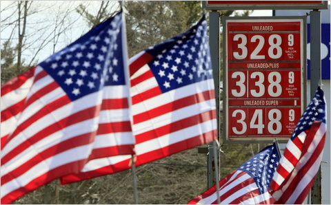 A gas station in Topsham, Me., where prices had just risen on Thursday.