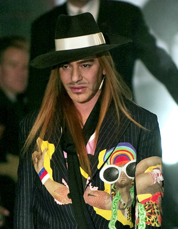 John Galliano at a Christian Dior show in Paris.