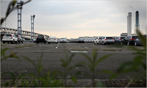 Honda vehicles in Yokohama, Japan, bound for shipment.
