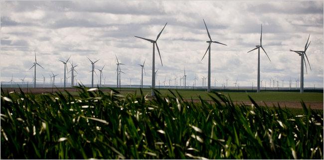 wind farms, Oregon, NY Times