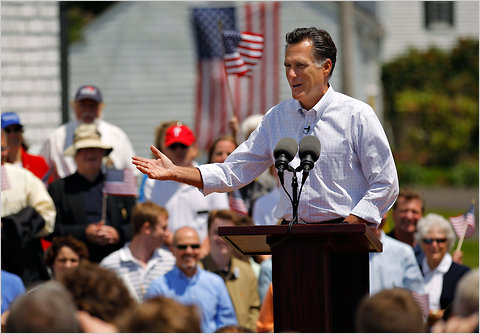 Mitt Romney announced that he is formally entering the race for the 2012 Republican presidential nomination in Stratham, New Hampshire, on Thursday.