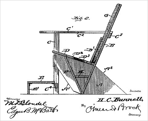 Image from original patent for the Adirondack Chair