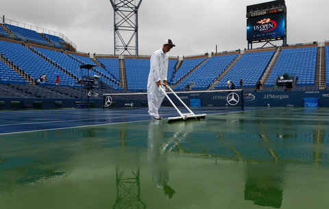Rain at US Open