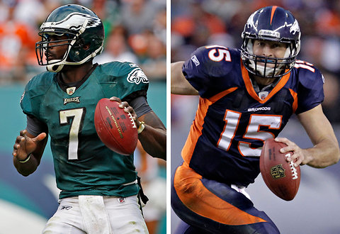 Who will score more fantasy points in Week 15, Michael Vick or Tim Tebow? Make your picks below.