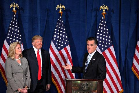 Mitt Romney accepted the endorsement of Donald Trump in Las Vegas on Thursday.
