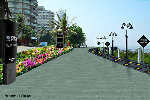 """An artist's rendering of the soon to be launched """"UTV Stars' Walk of the Stars,"""" in Mumbai, Maharashtra."""
