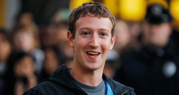 Mark Zuckerberg, chief executive of Facebook, which had revenue exceeding $1 billion.
