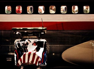 2nd Lt. James Cathey's body arrived at the Reno Airport in 2005.
