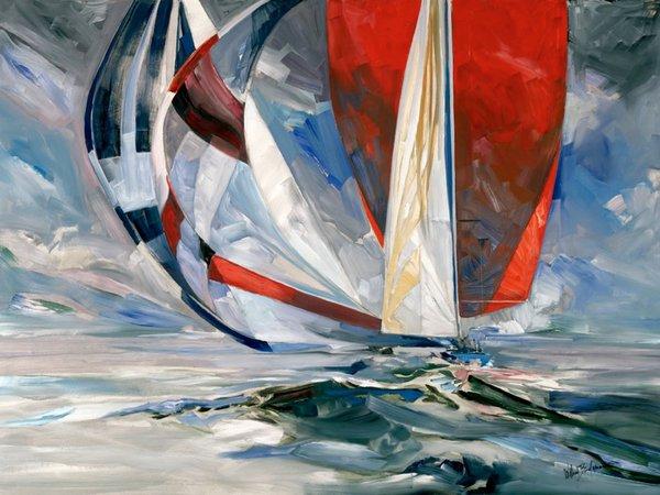 Willard Bond Painter Of Yachting Life Dies At 85 The
