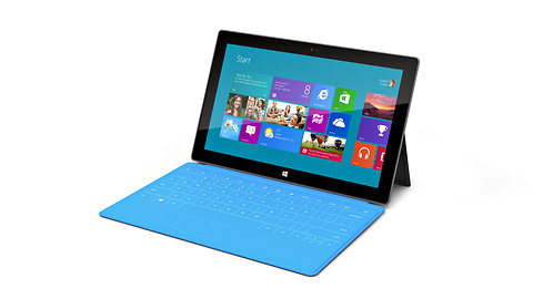 Microsoft's Surface tablet has a keyboard and a kickstand.