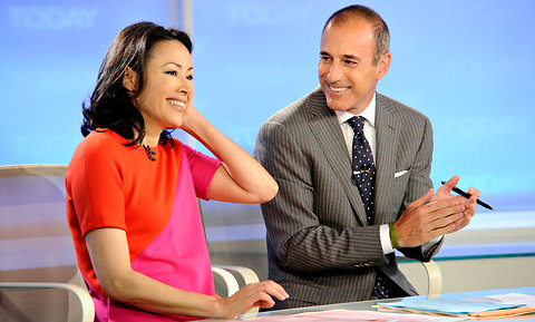 "Ann Curry and Matt Lauer on the ""Today"" show."