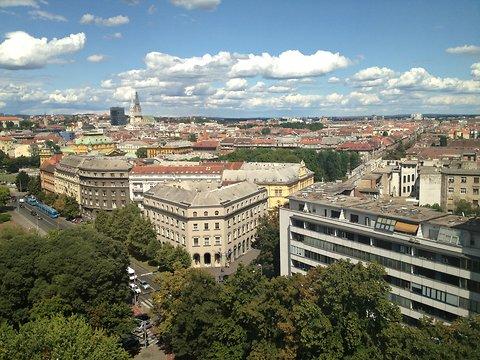 Zagreb, from Diana Lopez's hotel.