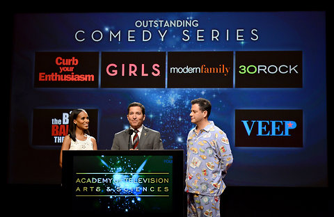 Actress Kerry Washington, Academy of Television Arts & Sciences Chairman Bruce Rosenblum and the late-night host Jimmy Kimmel announced the nominees for the Outstanding Comedy Series Award during the 64th Primetime Emmy Awards Nominations held at the Television Academy's Leonard H. Goldenson Theatre on July 19, 2012 in Los Angeles.