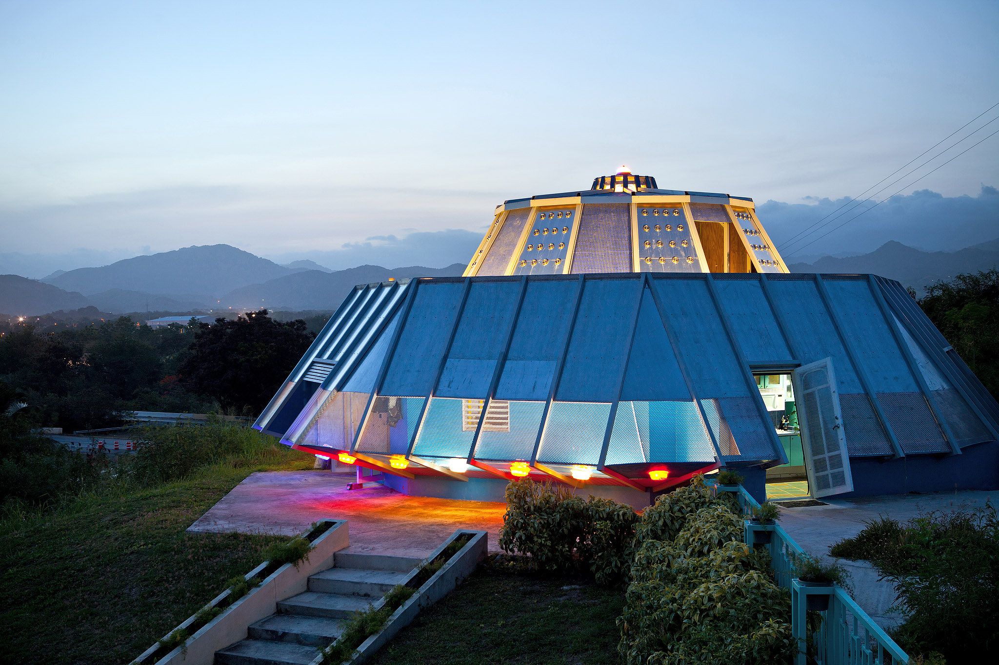 A Spaceship Of A Home In Puerto Rico
