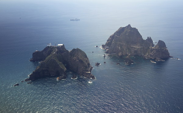 Dokdo/Takeshima islands (Source: NY Times).