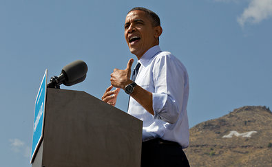 President Obama spoke at a campaign event on Thursday in Golden, Colo.
