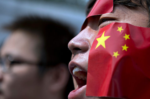 In Malaysia, protesting Japan's purchase of disputed islands known, in China, as Diaoyu and in Japan, as Senkaku at the Japanese embassy in Kuala Lumpur on Sept. 19.