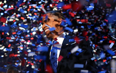 Americans voted to give President Obama a second chance to change Washington.
