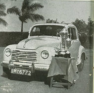 An award-winning Fiat 500, with Bombay license plates.