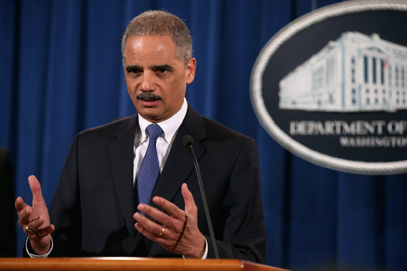 Attorney General Eric H. Holder Jr. announced the civil fraud charges against S.&P. in Washington on Tuesday.