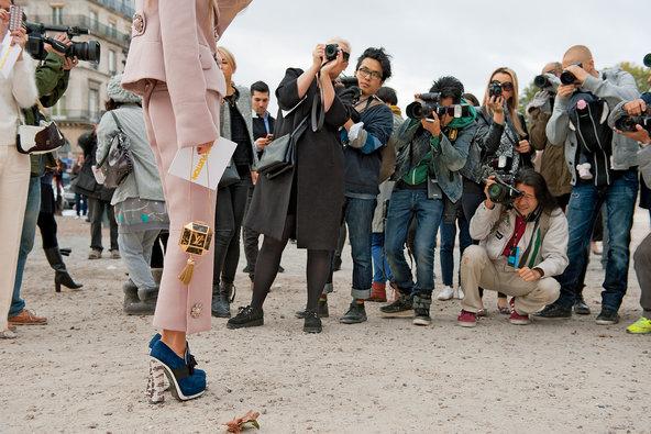 Photographers in the Tuileries in Paris.