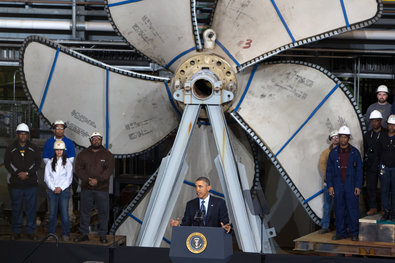 President Obama spoke of the possible impact that budget cuts would have on the defense industry and the Virginia economy during a visit to at Newport News Shipbuilding on Tuesday.