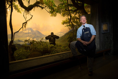 Stephen Quinn, the senior diorama artist at the American Museum of Natural History, is retiring after nearly 40 years at the museum.