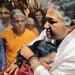 An Amma embrace at the ashram.