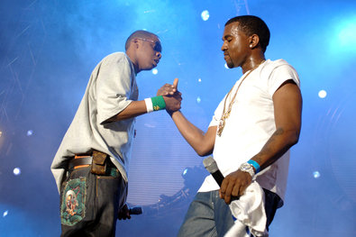 Jay-Z, left, with Mr. West at the Hot 97 Summer Jam in 2005.