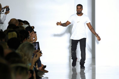 Mr. West at his Spring/Summer 2012 ready-to-wear collection show in Paris in October 2011.
