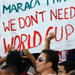 Soccer spectators protested in Rio de Janeiro on Thursday.