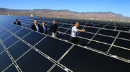 President Obama at a solar energy facility in Nevada in March 2012. Republicans criticized the trip as a political stunt.