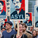 A rally in support of Edward J. Snowden in Berlin on Thursday. He remained marooned at an airport in Moscow.