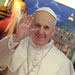 A man sold posters of Pope Francis on Thursday in Rocinha, a large slum of Rio de Janeiro.