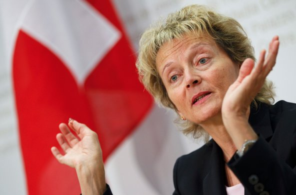 Eveline Widmer-Schlumpf, the Swiss finance minister, has been working out a tax deal with the United States.